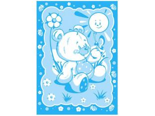 Одеяло Медвежонок байковое жаккард Люкс 100*140
