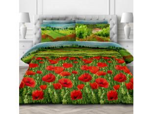 Комплект постельного белья Евростандарт, бязь  ГОСТ (Цветущая альпика)